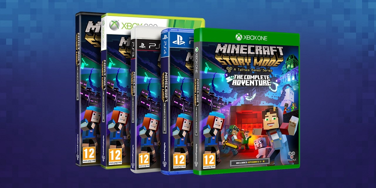 New retail disc for Minecraft: Story Mode includes Episodes 1-8 together for the first time