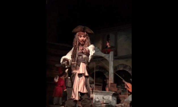 Johnny Depp Makes Surprise Appearance on Pirates of the Caribbean Ride