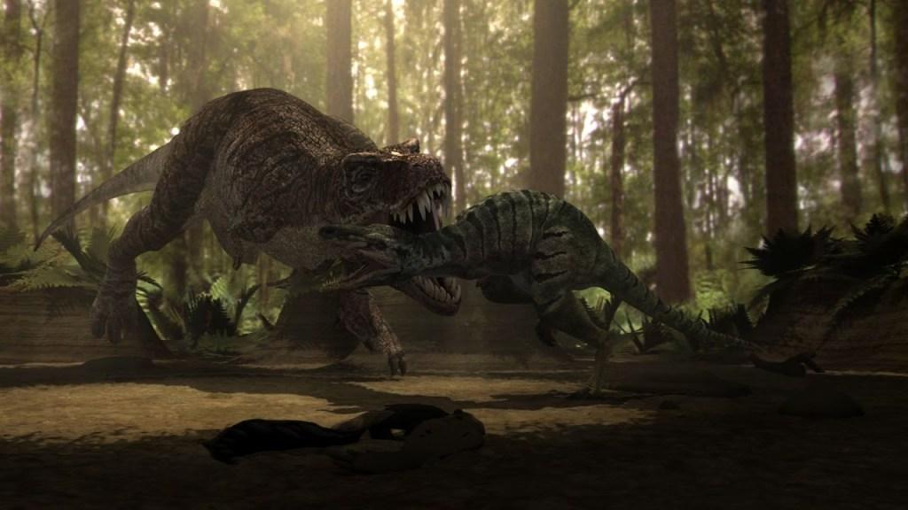 tyrannosaurus rex vs nanotyrannus fight