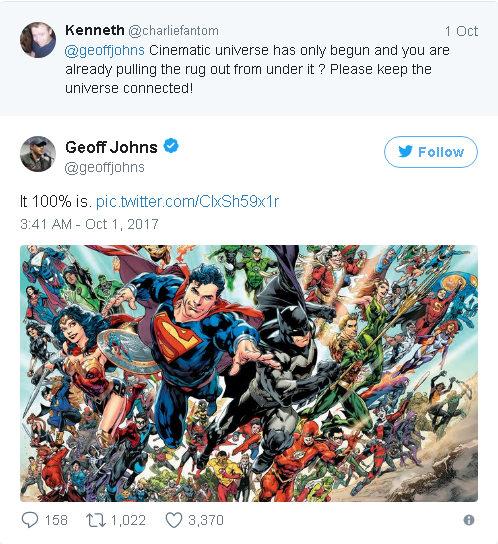 Geoff Johns Tweet