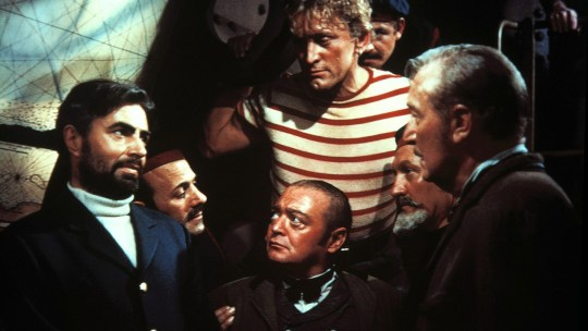 Kirk Douglas et al in the 1954 Disney adaptation of 20,0000 Leagues Under the Sea