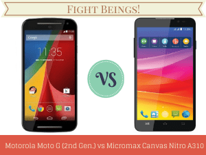Motorola Moto G(2nd Gen.) vs Micromax Canvas Nitro A310