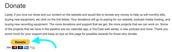 Donate Donation Button