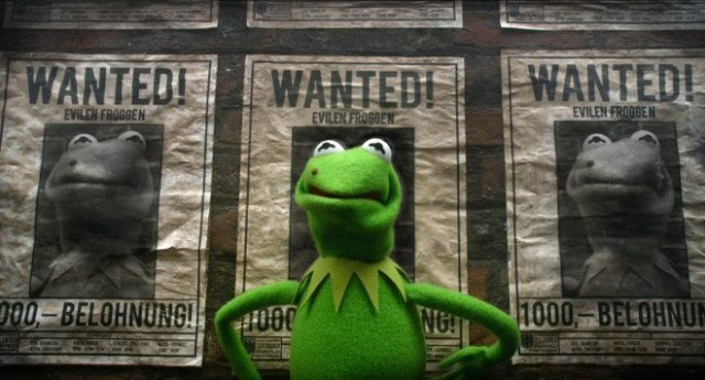 """MUPPETS MOST WANTED"" (Pictured) KERMIT. Photo by: Jay Maidment ©2013 Disney Enterprises, Inc. All Rights Reserved."