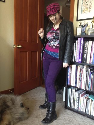 This is Barb Ferrer's 16-year-old daughter, Abby, who is a proud geek and aspiring Manga artist. We get our sense of style young in the geek world.