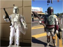 (left to right) Boba Fett (Prototype Armor) and BH-3743