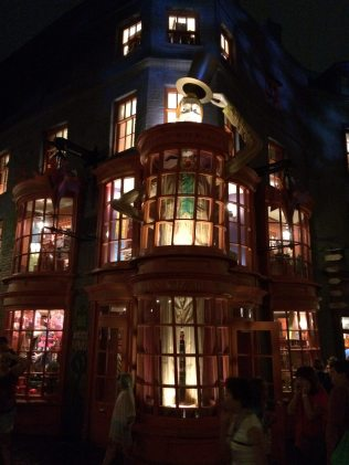 Diagon Alley at Night is a beautiful sight. Image Dakster Sullivan.JPG