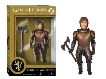 The Tyrion Lannister Legacy Action Figure is 6 inches tall and comes with an axe and a necklace. Image: Funko.