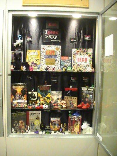 Bottom shelf of I Spy / Batman display. (Photo used with permission)