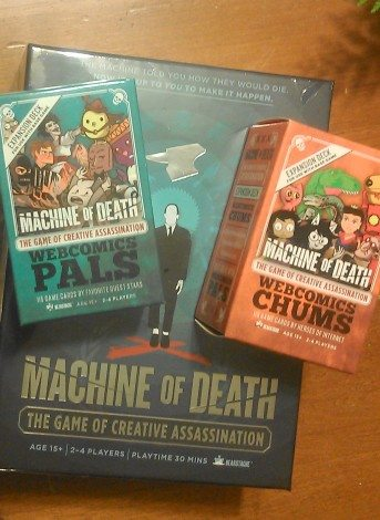 Machine of Death: The Game of Creative Assassination. Image: Cathe Post