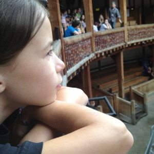 At Shakespeare's Globe Theater. Photo Credit: Fran Wilde.