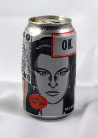 OK soda was just, well, okay. The soda was offered by the Coca-Cola company in 1993 to select cities across the US (including Portland, OR). It was available in the vending machines at our high school. My husband just happened to keep a can.