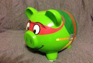 TMNT Piggy Bank  Image: Dakster Sullivan