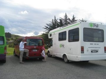 Our small Dart 4 camper was a pop-top. Much easier to maneuver and cheaper on gas than its neighbor.