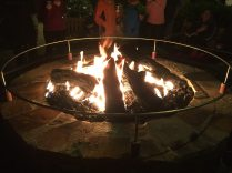 A fire was a welcoming sight on this chilly 60 degree night. Image: Dakster Sullivan