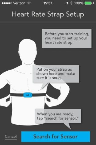 PEAR will give guidance on how to appropriately wear the heart rate monitor strap. Image capture: Patricia Vollmer.