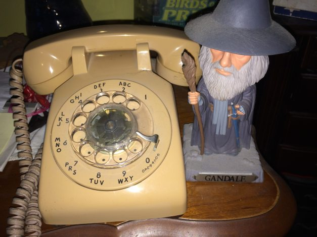 Gandalf believes this phone is a wise choice. (image by Corrina Lawson)