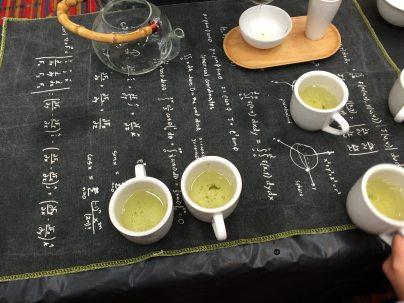 My son's photos of the tea panel. Photo by Kyle Lavitt