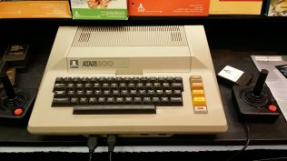 The 1979 Atari 800 was upgrade-friendly with an open case and modular RAM boards. It sold for $1,000. CC-BY-SA Ruth Suehle
