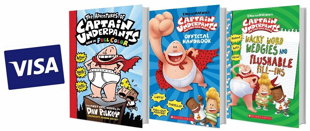 Captain Underpants Prize Pack via Scholastic