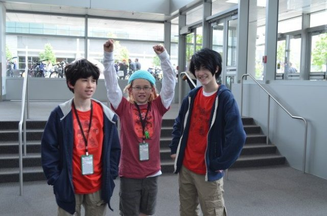 My oldest son found his Doppelganger. It was the only other Hiro Hamada we saw at DCC all weekend. Photo: Patricia Vollmer.