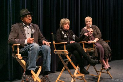 Panel speakers Floyd Norman, Mimi Gilman, and Lisa Davis. (Photo Disney Studios)