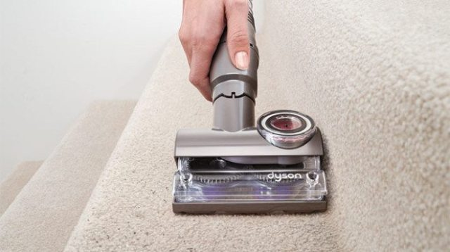 Easily picks up stubborn dust and pet hair. Image: Dyson