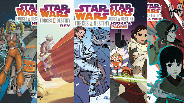 Star Wars: Forces of Destiny Covers, Image: IDW Publishing