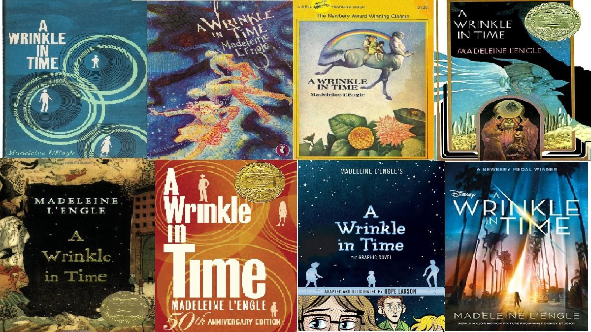 A Wrinkle In Time cover art collage