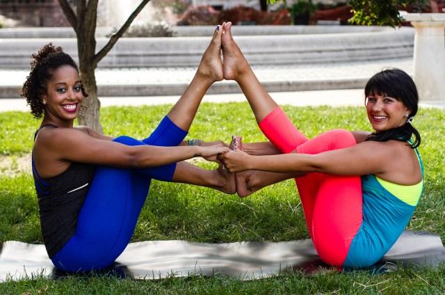 wonder twin yoga pose
