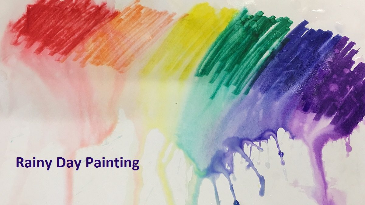 rainy day painting STEAM