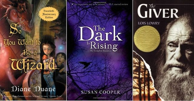 Book covers for the series listed in this section