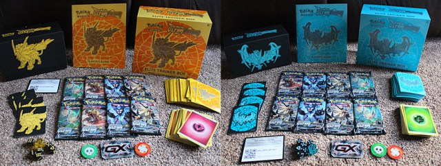 Pokemon Ultra Prism Elite Trainer Boxes with Contents, Image: Sophie Brown