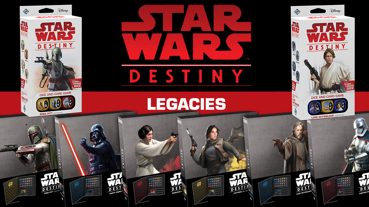Star Wars Destiny Legacies and Storage Binders, Images: Fantasy Flight Games and Lucasfilm