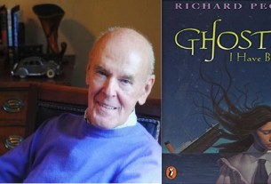 Richard Peck and the most recent paperback cover of Ghosts I Have Been