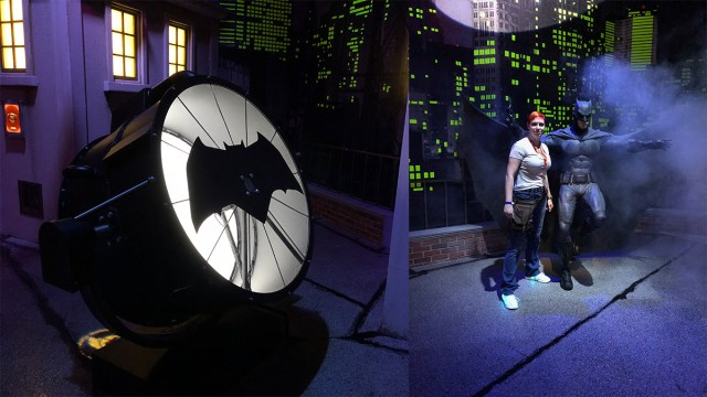 Call Batman into action with the Batsignal. \ Image: Dakster Sullivan