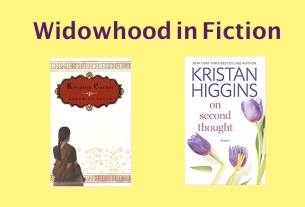 Widowhood in Fiction written above book cover images for 'Keeping Corner' and 'On Second Thought'