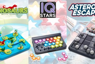 Dinosaurs Mystic Islands, IQ Stars, and Asteroid Escape, Images: Smart Games