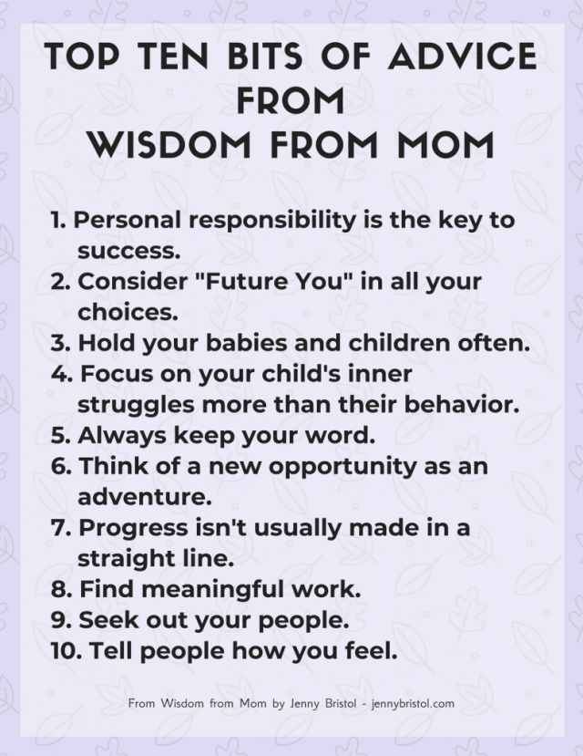 top 10 tips from wisdom from mom