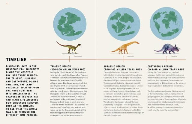 A Dino Timeline, Image: Wide Eyed Editions