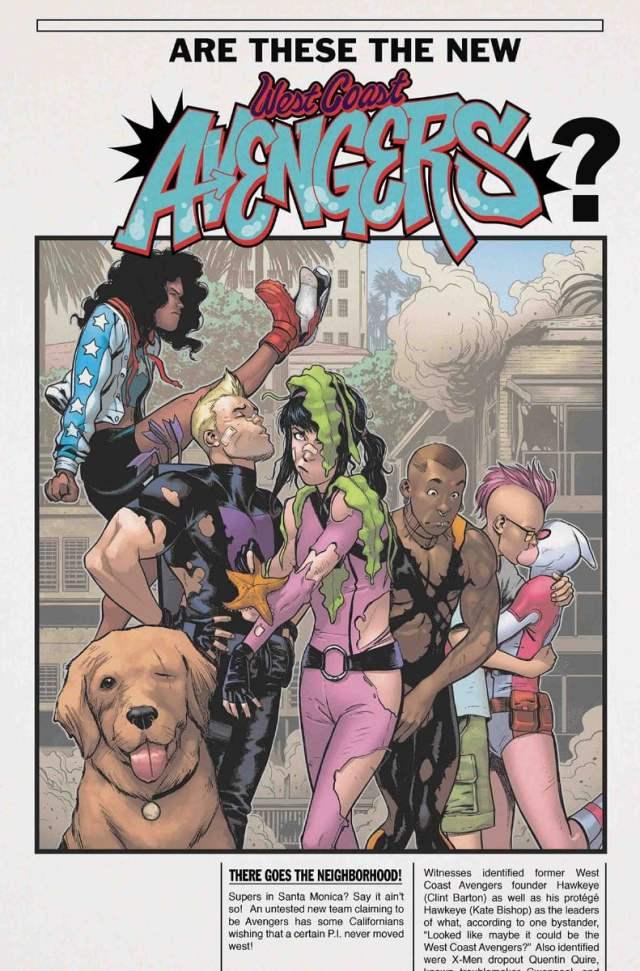 recent comic books, West Coast Avengers #4