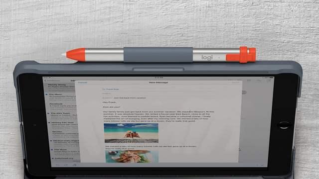 Slim Folio Apple Pencil Space \ Image: Logitech