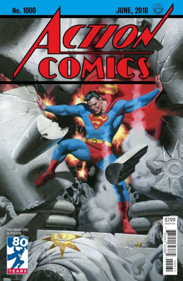 Action Comics #1000 Steve Rude variant cover