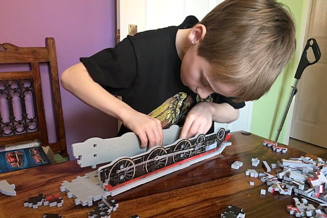 Fitting a Wheel Section of the Hogwarts Express, Image: Sophie Brown
