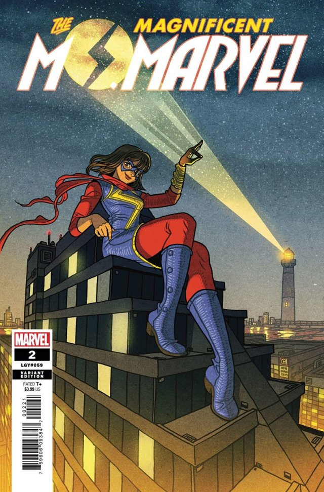 'The Magnificent Ms. Marvel #2' Variant Cover by Afu Chan
