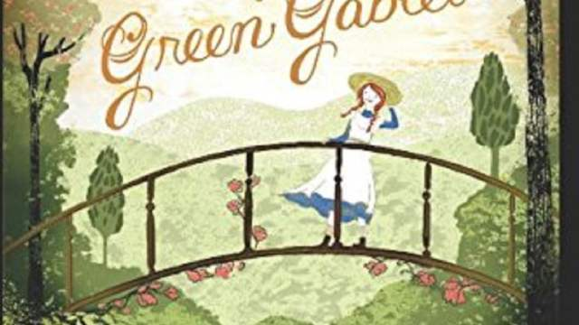 detail of a book cover of Anne of Green Gables