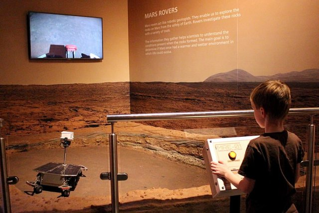 Controlling a Mars Rover at the National Space Centre, Image: Sophie Brown