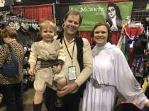 This family! The baby girl is dressed as Rey.