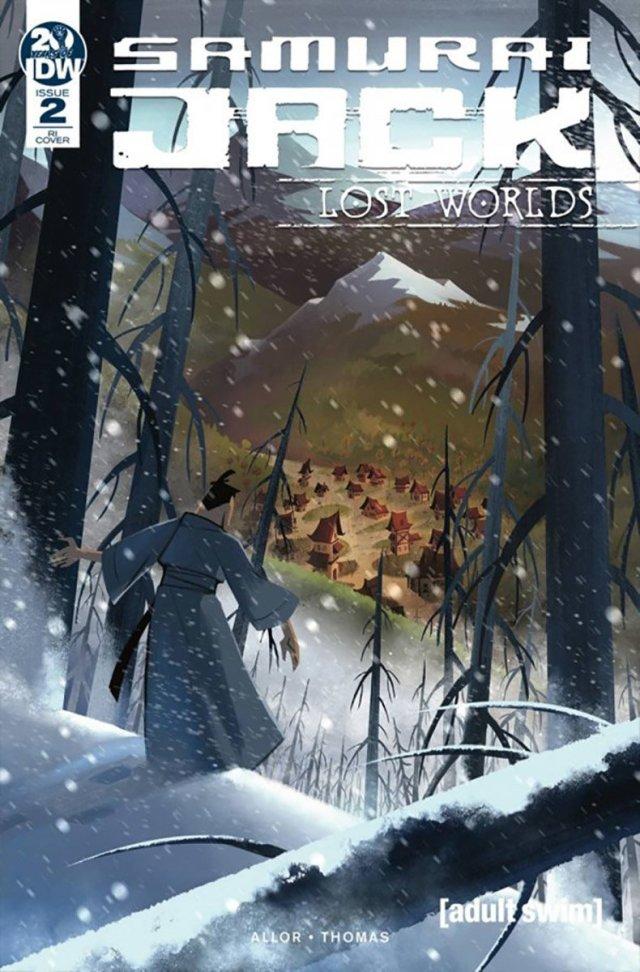 'Samurai Jack Lost Worlds #2' 1:10 Retailer Incentive Variant Cover by Sara Pitre-Durocher