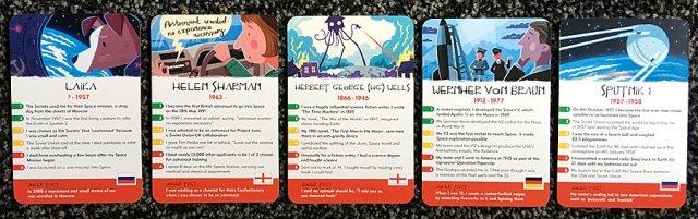 Sample History Heroes: Space Cards, Image: Sophie Brown
